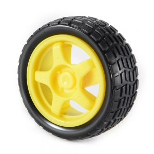 Rubber Wheel Robot Tires TT Motor Robot Smart Car Platform